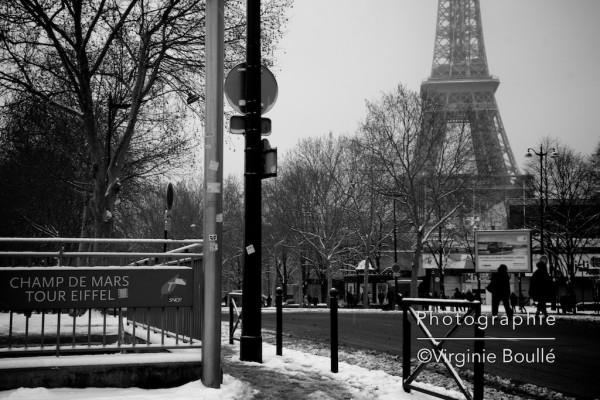 Birakiem, Paris sous la neige. 20 Janvier 2013