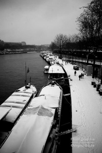 Les quais, Birakiem, Paris sous la neige. 20 Janvier 2013