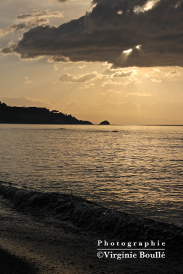 Sicile, Taormina . Crépuscule