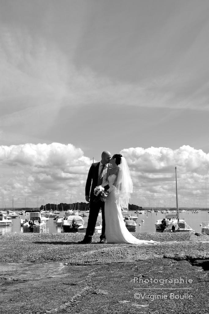 Mariages portraits Noir & Blanc ©Virginie Boullé