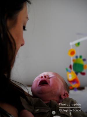 Portrait de Naissance, Maman et son bébé  ©Virginie Boullé