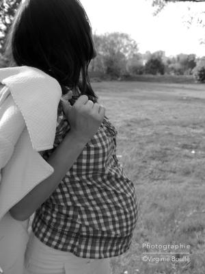 Grossesse 7 mois, Céline ©Virginie Boullé