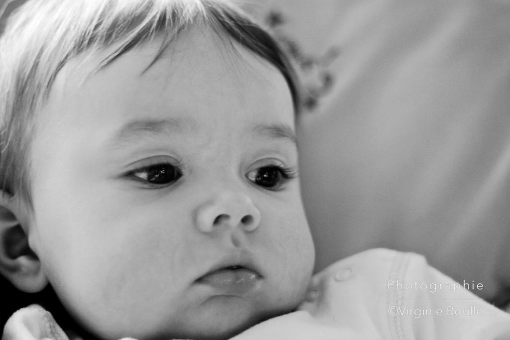 Portrait de Gabriel 6 mois ©Virginie Boullé